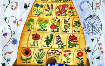 Pollination Poster by Claire Jones
